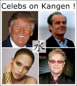 Celebrities Jack Nickolson, Elton John & Jennifer Lopez & Business Man - Donald Trump